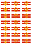 Westmorland Flag Stickers - 21 per sheet